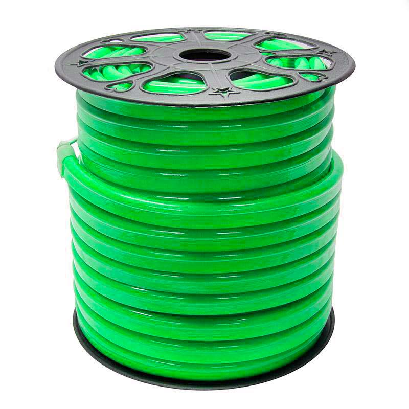 Led NEON Flex, 220V, 14x26mm, verde, 1 metro, Verde